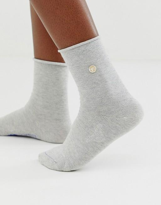 Birkenstock - Chaussettes bling-bling en coton pailleté - Gris et argent