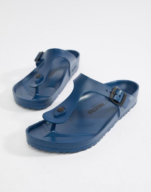 Image 1 of Birkenstock Gizeh EVA sandals in navy