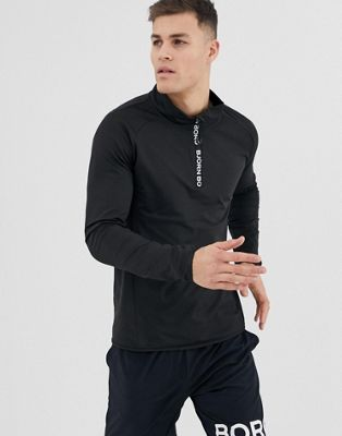 Image 1 of Bjorn Borg Performance half zip long sleeve top
