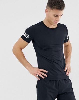 Bjorn Borg - Performance - T-shirt à logo imitation peau de mouton