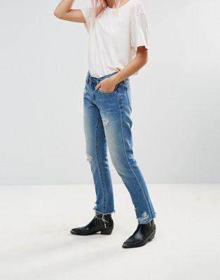 Blank NYC - Day Streaming - Boyfriend jeans met slijtage