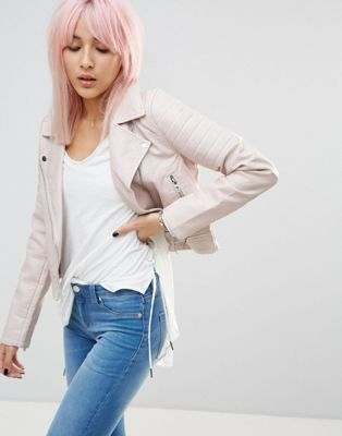 Blank NYC Gumdrop Quilted Arms PU Biker Jacket