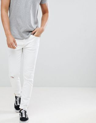 Blend Cirrus Ripped Skinny Jeans in White