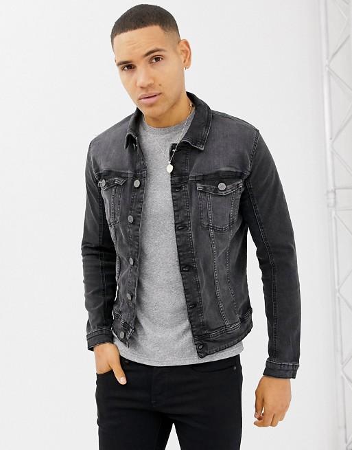 Blend denim jacket in washed black