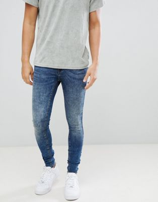 Blend Flurry Distressed Muscle Fit Jeans in Authentic Wash