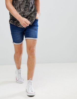 Blend - Pantaloncini di jeans slim lavaggio medio