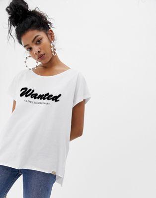 Blend She – Ena – Wanted – Bedrucktes T-Shirt