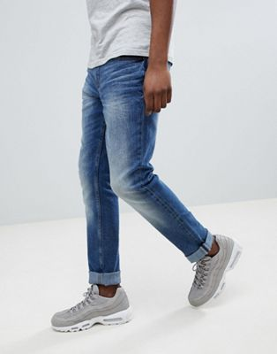 Blend slim fit distressed jeans blue
