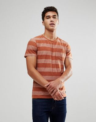 Blend Stripe T-Shirt in Rust
