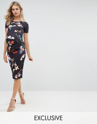 Bluebelle Maternity – Figurbetontes Kleid mit kurzem Arm