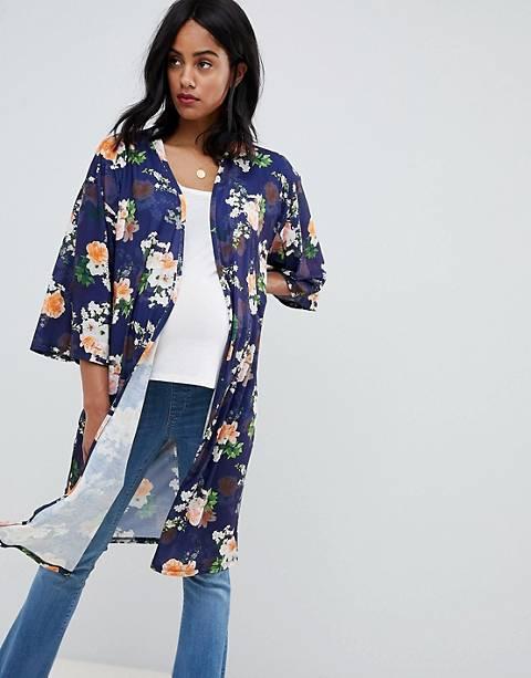 Bluebelle Maternity floral printed kimono