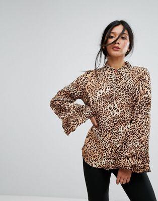 Blusa con estampado de leopardo de Gestuz