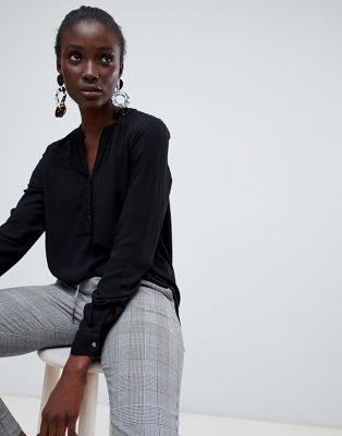 Блузка без воротника Vero Moda