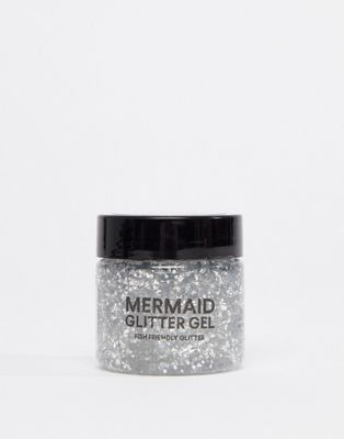 BOD Mermaid Body Biodegradable Glitter Gel - Silver