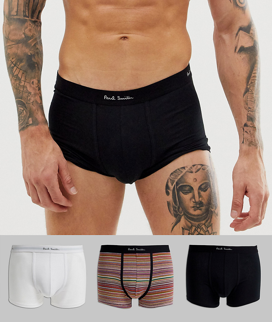 Boksershort i hvid/stribet/sort, 3-pak, fra Paul Smith-Multifarvet
