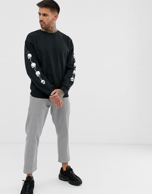Bolongaro Trevor skull side arm print sweatshirt