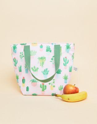 Bolsa para el almuerzo con diseño de cactus en tonos pastel de Sass & Belle