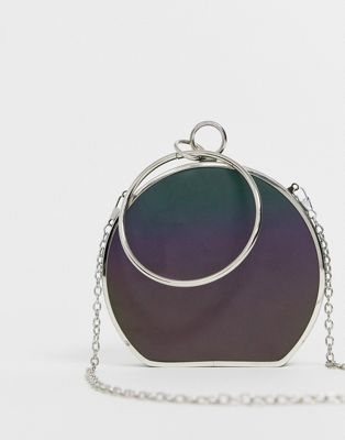 Bolso clutch con asa y diseño reflectante de ASOS DESIGN