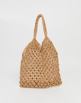 Imagen 1 de Bolso shopper trenzado de croché exclusivo de My Accessories London