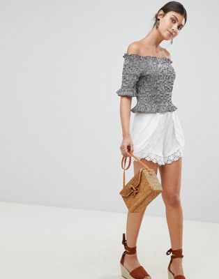 Boohoo Crochet Detail Shorts