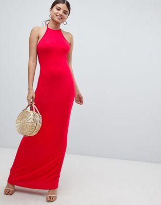 Image 1 of Boohoo Halterneck Maxi Dress