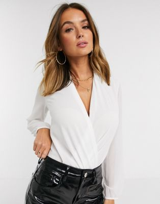 Boohoo long sleeve wrap over body