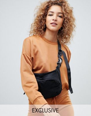Boohoo oversized boxy sweat in camel