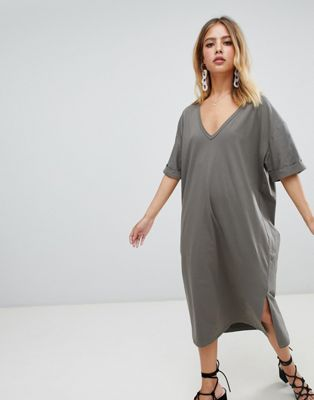 Boohoo Oversized Midi T-Shirt Dress