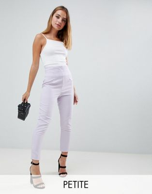 Boohoo Petite Check Tailored Trousers