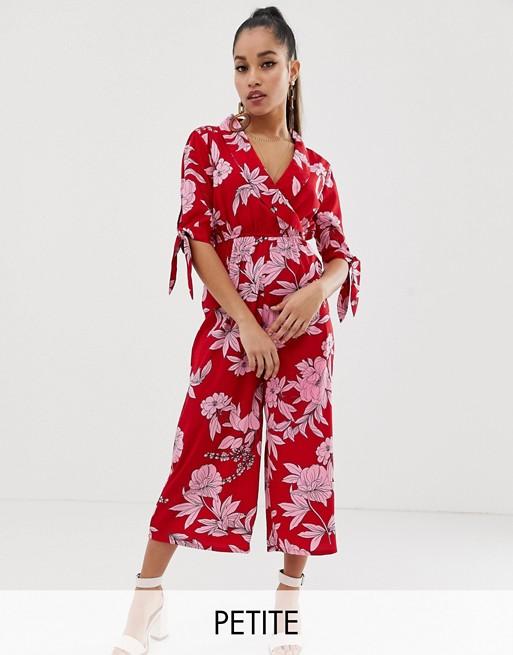 Boohoo PetiteCombinaison Exclusivité À Jupe En culotte Fleurs Rouge 1JlKcF