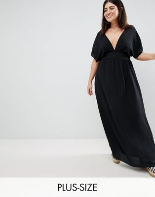 Boohoo Plus Beach Maxi Dress