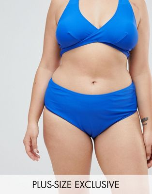 Boohoo Plus High Waisted Bikini Brief