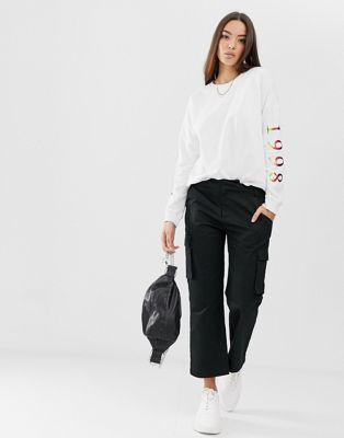 Afbeelding 1 van Boohoo - Sweater met woman-slogan in wit