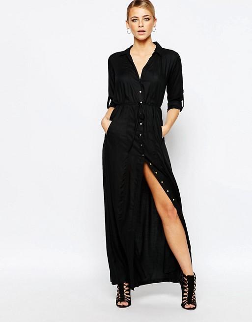 66e441a4ed9 Boohoo Utility Belted Maxi Dress