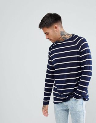 boohooMAN Oversized Jumper In Blue