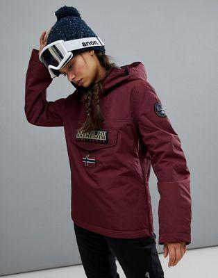 Бордовая зимняя куртка Napapijri Rainforest