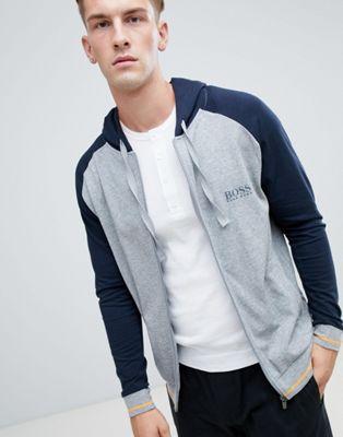 BOSS Bodywear Authentic - Giacca college con cappuccio e zip