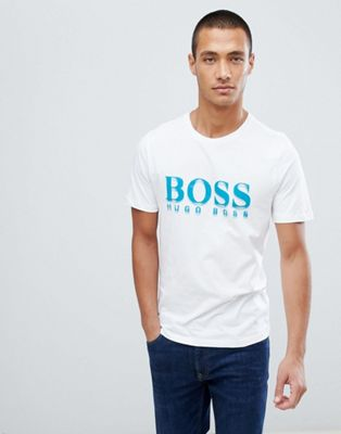 Boss bold logo t-shirt in white