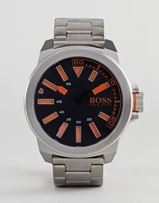 BOSS By Hugo Boss 1513006 New York Watch With Stainless Steel Strap