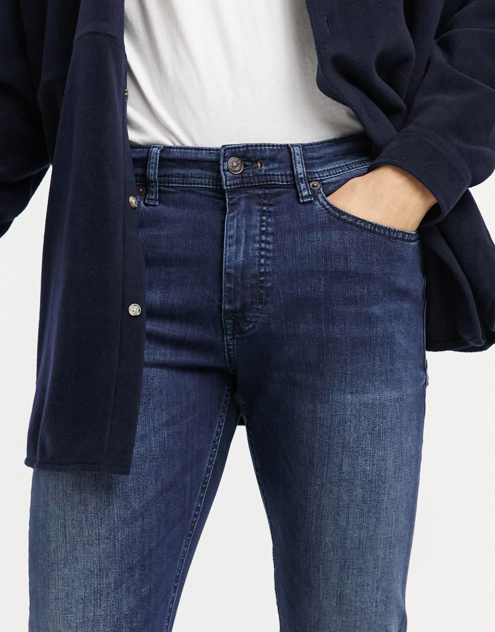 BOSS Delaware slim fit jeans in dark blue -  Price Checker