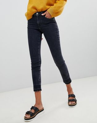 Boss - Jean skinny casual à ourlets bruts