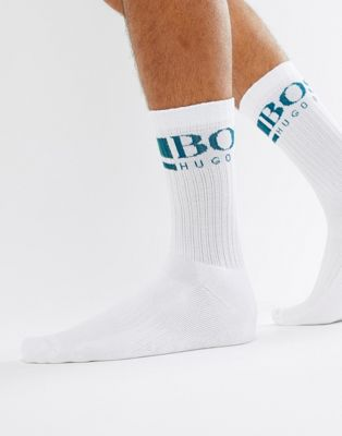 Image 1 of BOSS rib logo socks