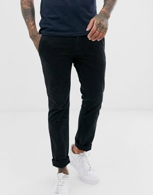 Boss Shino slim chino in black