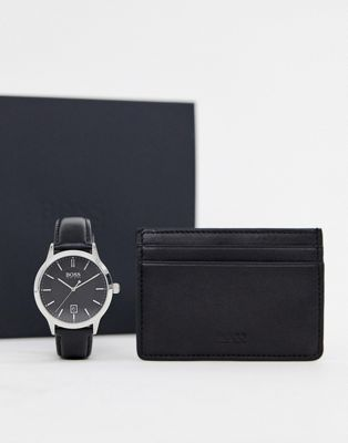 BOSS Signet watch & cardholder gift set