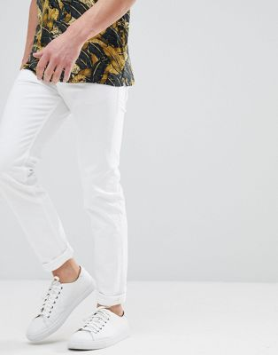 BOSS Tapered Fit Fit White Jeans