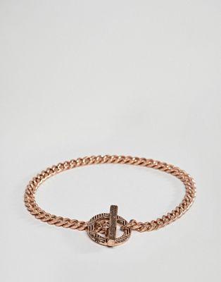 Браслет-цепочка цвета розового золота Icon Brand