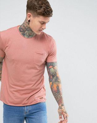 Brave Soul – Basic-T-Shirt mit unbearbeiteten Kanten