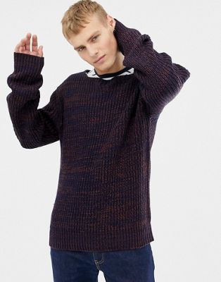 Image 1 of Brave Soul Cable Twist Contrast Jumper