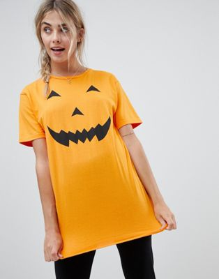 Brave Soul halloween pumpkin night shirt
