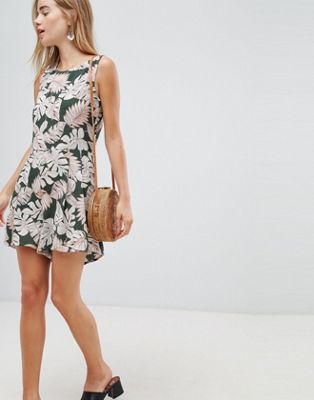 Brave Soul leaf print playsuit